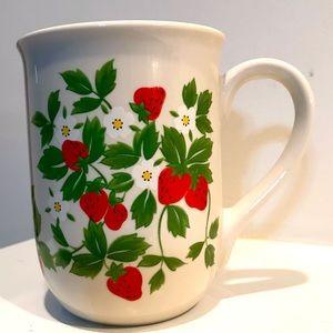 Vintage strawberry mug